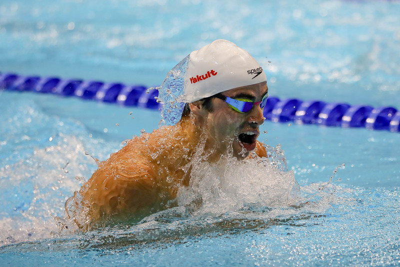ISR Yakov Yan in action during Mens 100m Individual Medley at the FINA Airweave Swimming World Cup, at OCBC Aquatic centre Singapore. Photo by Sanketa Anand/Sport Singapore