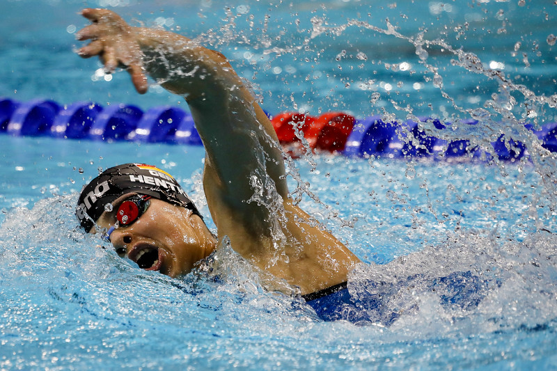 Germany HENTKE Franziska in action during Women's 800m freestyle Final at the FINA Airweave Swimming World Cup, at OCBC Aquatic centre Singapore. Photo by Sanketa Anand/Sport Singapore