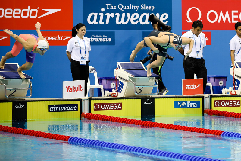 Australia's ELMSLIE Brittany in action during Women's 100m Freestyle Finals at the FINA Airweave Swimming World Cup, at OCBC Aquatic centre Singapore. Photo by Sanketa Anand/Sport Singapore