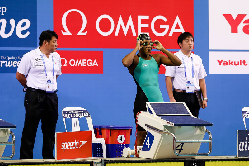 Jamaica's Alia Atkinson in action during Women's 50m Breaststroke Finals at the FINA Airweave Swimming World Cup, at OCBC Aquatic centre Singapore. Photo by Sanketa Anand/Sport Singapore