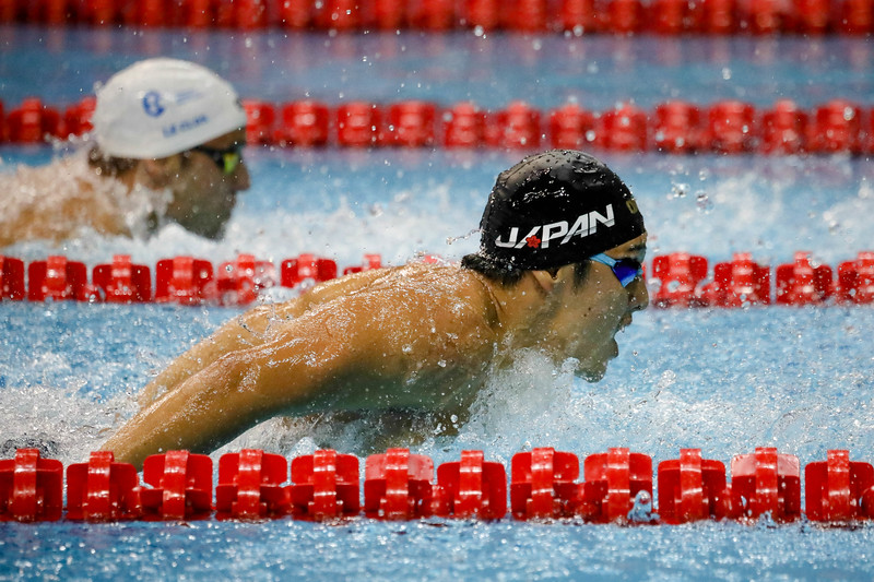 Japan SETO DAIYA in action during Mens 200m Butterfly at the FINA Airweave Swimming World Cup, at OCBC Aquatic centre Singapore. Photo by Sanketa Anand/Sport Singapore