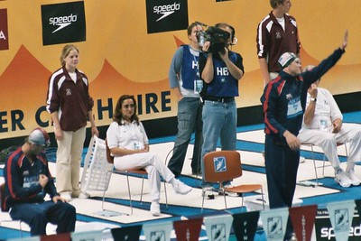 Kaitlin Sandeno before winning the first of three gold medals