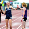 "Kelley Robinson, of Nederland, at left, greets Tabor Scholl of West Grand the winner of the 2A girls 1,600 run during the last day of the 2012 Colorado High School State Track & Field Championships at Jefferson County Stadium. Robinson finished second. Photo by Paul Aiken / The Boulder Camera / may 19 2012<br /> Photo more photos go to  <a href=""http://www.dailycamera.com"">http://www.dailycamera.com</a>"