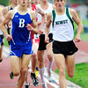 "Nick Harris of Niwot runs to a first place finish in the 4A boys 1,600 run, during the last day of the 2012 Colorado High School State Track & Field Championships at Jefferson County Stadium. Photo by Paul Aiken / The Boulder Camera / may 19 2012<br /> Photo more photos go to  <a href=""http://www.dailycamera.com"">http://www.dailycamera.com</a>"
