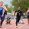 Peak to Peak's Khadijah Sayyid competes in the 3A girls 200 dash during the last day of the 2012 Colorado High School State Track and Field Championships at Jefferson County Stadium on Saturday, May 19, 2012.  Sayyid placed fourth in the event.<br /> <br /> (Greg Lindstrom/Times-Call)