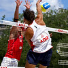 Reinder Nummerdor (Netherlands) with Martin Laciga (Switzerland) blocking