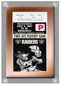 RAIDERS STUB