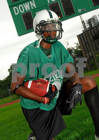 Marvin Lee, Elmont HS Football 2007. Photo by Kathy Leistner