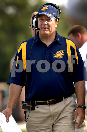 Baldwin Head Football Coach Stephen Carroll. September 20th, 2007, Baldwin vs Freeport, 0-18 Photo by Kathy Leistner