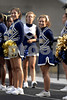 L-R Balwin Cheerleaders, Mallory Wool and Ashley Glickman. September 20th, 2007. Photo by Kathy Leistner
