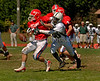 SSHS #21 Nick O'Reilly loses a pass to EHS #80 Philippe Jonas. Photo by Kathy Leistner