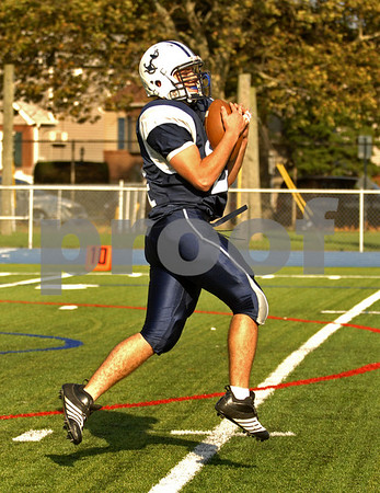 Oceanside Senior #24 Captain Danny Lazrus, 4th quarter return.  Oceanside vs Port Washington, October 20th, 2007. Photo by Kathy Leistner