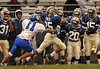 #25 Jovan Finch, Baldwin, #11 Hemptead Maurice Zereoue. Baldwin vs Hempstead, November 3rd, 2007. Photo by Kathy Leistner