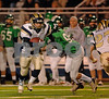 BHS Senior#4 Joey Giampiccolo goes by #9 C-Jay Engelke, FDale. Conference I Football Playoffs, November 17th, 2007, Hofstra Shuart Stadium, Baldwin vs Farmingdale. Photo by Kathy Leistner