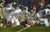 #19 BHS Joe Ednie holds on to a slippery fball. Baldwin vs Farmingdale, September 19th, 2008. Photo by Kathy Leis