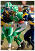 #42 Tyler Gill , Valley Stream Green Hornets, Pony Green 11-12 year olds vs W. Babylon Eagles, 41-39. Head Coach Bill Hughes, Assistant Coaches, Danny Moran, Mike Hawkins, John Beabrun, and Lou LaTorre.  VS Green Hornets Homecoming. October 19th, 2008. Photo by Kathy Leistner