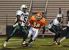 88b  #5 EHS  #68_CHS  Elmont HS Football Semi-Final Nassau County Championships vs Carey HS. November 15th, 2008. Shuart Stadium, Hofstra. Photo by Kathy Leistner.