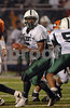 70d #5 EHS Diashawn Miller.  Elmont HS Football Semi-Final Nassau County Championships vs Carey HS. November 15th, 2008. Shuart Stadium, Hofstra. Photo by Kathy Leistner.