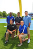 New area football coaches: Robert Blount (Oceanside), Frank Chimienti (VSC), Scott Martin (LBeach), George Kasimatis (Sew) and  Kito Lockwood (Malv). Photo by Kathy Leistner