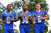 #283 L-R #5 Malik West, #38 Addison Augustin #2 Peter Dehazya, VSCHS Photo by Kathy Leistner