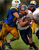 Lawrence HS Football vs Plainedge HS, 21-38, October 25th, 2009.<br /> Photo by Kathy Leistner