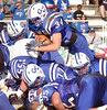 #34 for Gate City dives over the line for a TOUCHDOWN. Photo by Ned Jilton II