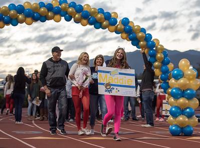 LOHS Cheer Senior Night Recognition