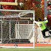 fsu goal keep Alex Al-Zaibak makes a jump for ball