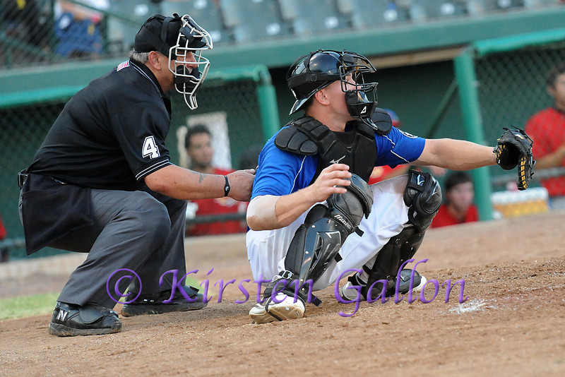 Scott Dalrymple behind the plate.