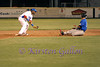 Antoine Gray lies in wait to make the tag out at second base.