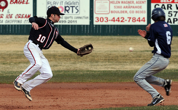 "The ball gets past Thomas Staver, left, of Fairview, as Jovian Santiago of Air Academy comes into second.<br /> For more photos of the game, go to  <a href=""http://www.dailycamera.com"">http://www.dailycamera.com</a>.<br /> Cliff Grassmick/ March 30, 2011"
