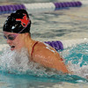 "Kourtney Fosse of Fairview swims the beast stroke in the medley relay.<br /> For more photos of the meet, go to  <a href=""http://www.dailycamera.com"">http://www.dailycamera.com</a>.<br /> January 5, 2012 / Cliff Grassmick"