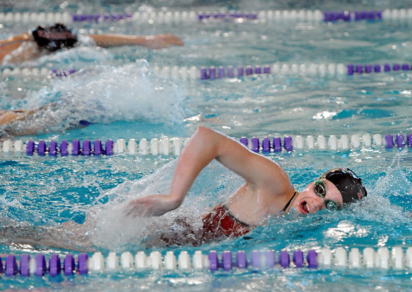 "Abigail Houck of Fairview wins the 200 freestyle on Thursday.<br /> For more photos of the meet, go to  <a href=""http://www.dailycamera.com"">http://www.dailycamera.com</a>.<br /> January 5, 2012 / Cliff Grassmick"
