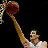 Fairview's Darragh O'Neill shoots while playing Aurora Central's during the semifinals of the boys 5A State Championships at the Coors Event Center on the University of Colorado campus in Boulder, Thursday, March 11, 2010. <br /> <br /> KASIA BROUSSALIAN
