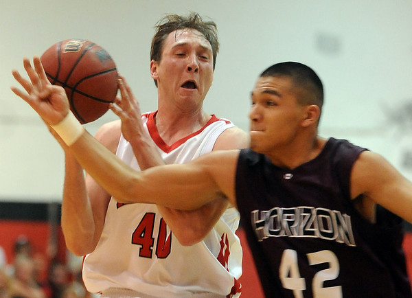 Sean Skuba of Fairview gets away from Joe Gonzales of Horizon on Friday.<br /> Cliff Grassmick / February 5, 2010