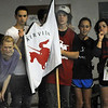 "Fairview High School fans cheer on one of their relay teams on Friday.<br /> For more photos of the meet, go to  <a href=""http://www.dailycamera.com"">http://www.dailycamera.com</a>.<br /> Cliff Grassmick / December 3, 2010"