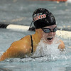 "Kourtney Fosse of Fairview, competes in the 200-yard medley relay, which her team won.<br /> For more photos of the meet, go to  <a href=""http://www.dailycamera.com"">http://www.dailycamera.com</a>.<br /> Cliff Grassmick / December 3, 2010"