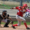 """Rocky DeSantis of Fairview takes a big swing against Monarch on Saturday.<br /> For a photo gallery of the game, go to  <a href=""""http://www.dailycamera.com"""">http://www.dailycamera.com</a>.<br /> Cliff Grassmick / July 16, 2011"""