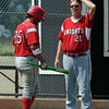 "Coach Rick Harig of Fairview talks to Rocky DeSantis.<br /> For a photo gallery of the game, go to  <a href=""http://www.dailycamera.com"">http://www.dailycamera.com</a>.<br /> Cliff Grassmick / July 16, 2011"