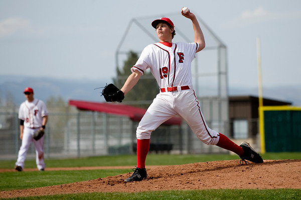 Fairview's  Brad Reynolds pitches to Monarch during the game at Fairview High School in Boulder, Thursday, April 15, 2010.