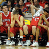 The Fairview players realize the inevitable in the overtime loss to Regis Jesuit. Darragh O'Neill, left, Ryan Gallup, Sean Skuba and Kenny Bell were part of the group feeling the pain.<br /> <br /> Cliff Grassmick / March 13, 2010