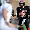 Fairview High School's Ben Schumacher looks for an open pass while playing Pomona High School during the class 5A State Semifinals at Recht Field in Boulder, Saturday, Nov. 28, 2009. <br /> <br /> KASIA BROUSSALIAN /THE CAMERA