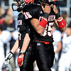Fairview High School's Kenny Bell (35) vents frustration after throwing an interception to Pomona High School during the class 5A State Semifinals at Recht Field in Boulder, Saturday, Nov. 28, 2009. <br /> <br /> KASIA BROUSSALIAN /THE CAMERA