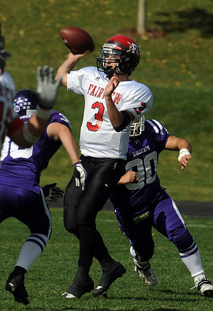 "Fairview quarterback, Michael McVenes, gets a pass away against Arvada West on Saturday.<br /> For more photos of the game, go to  <a href=""http://www.dailycamera.com"">http://www.dailycamera.com</a>.<br /> Cliff Grassmick / October 9, 2010"