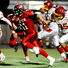Fairview High School's Tucker Tharp (11) scores another touchdown as Northglenn High School defends at Recht Field in Boulder, Friday, Oct. 16, 2009. <br />  DAILY CAMERA/ KASIA BROUSSALIAN