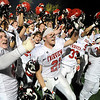 Fairview High School football players celebrate after defeating Boulder High School on Friday, Oct. 22, during a football game against Boulder High School. Fairview defeated Boulder 10-7<br /> Jeremy Papasso/ Camera