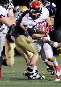 Fairview High School senior Sean Lavine rushes the ball on Friday, Oct. 22, during a football game against Boulder High School at Recht Field in Boulder. Fairview defeated Boulder 10-7 Jeremy Papasso/ Camera