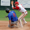 "Jeremy Katz of Fairview gets an out on Levi Ensign of Centaurus at second.<br /> For  more photos of the game, go to  <a href=""http://www.dailycamera.com"">http://www.dailycamera.com</a>.<br /> Cliff Grassmick  / August 2, 2012"