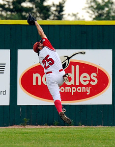 Fairview right fielder Rocky DeSantos makes an incredible catch on Friday, July 8,  during a baseball game against the Colorado Twins at Fairview High School. Fairview won 5-1. Jeremy Papasso/ Camera