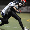FAIRVIEW<br /> Fairview's Colton Jackson is tackled by Tanner Degutis of Columbine.<br /> <br /> PHOTO BY MARTY CAIVANO<br /> Nov. 11, 2011